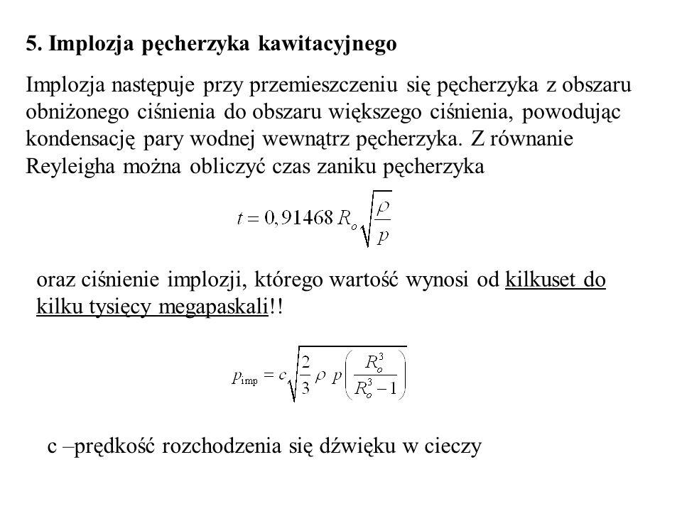 5. Implozja pęcherzyka kawitacyjnego