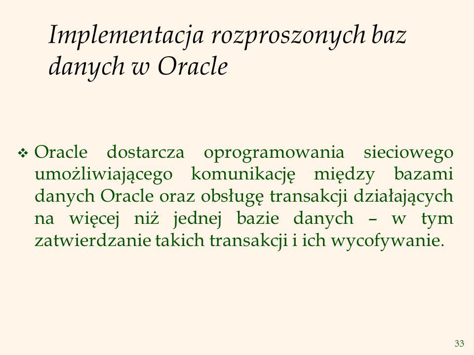 Implementacja rozproszonych baz danych w Oracle
