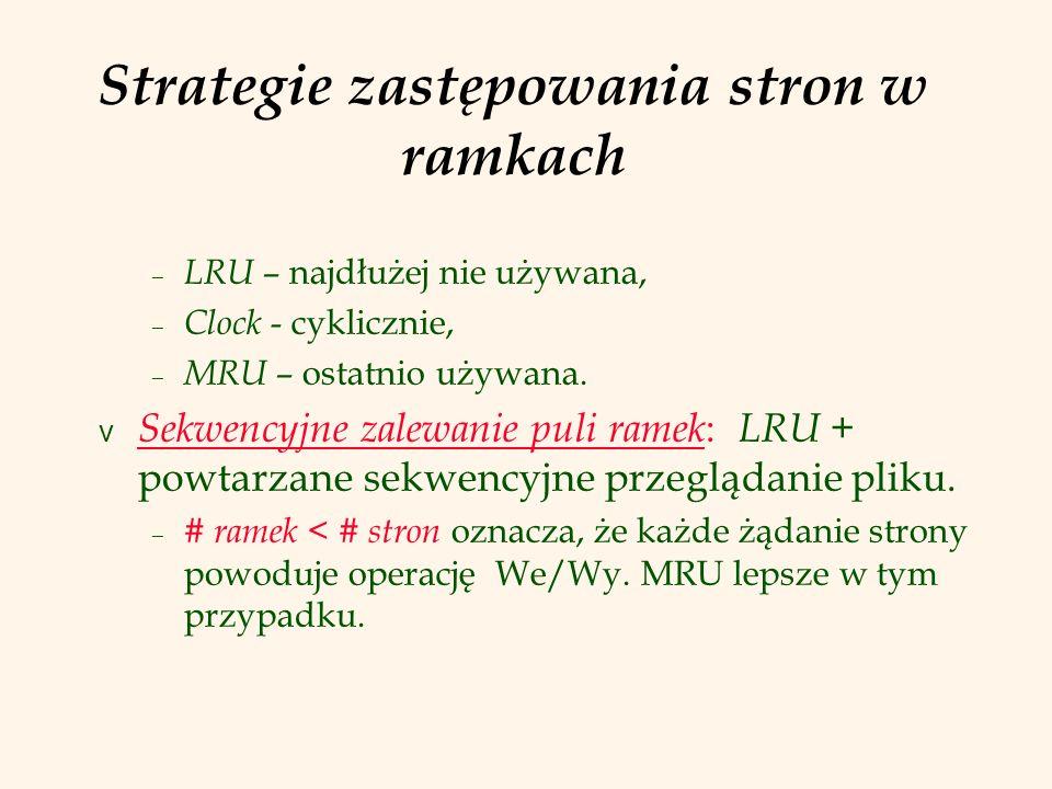 Strategie zastępowania stron w ramkach