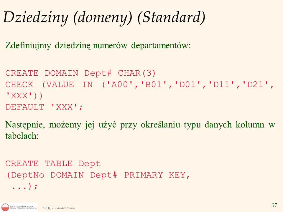 Dziedziny (domeny) (Standard)