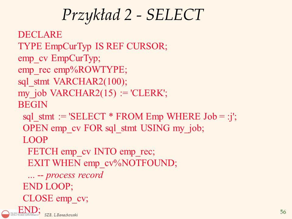 Przykład 2 - SELECT