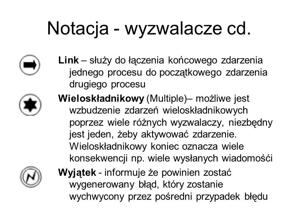 Notacja - wyzwalacze cd.