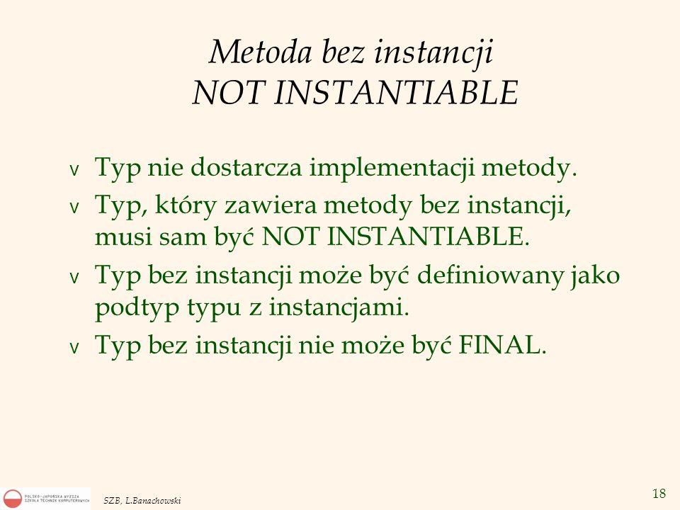 Metoda bez instancji NOT INSTANTIABLE
