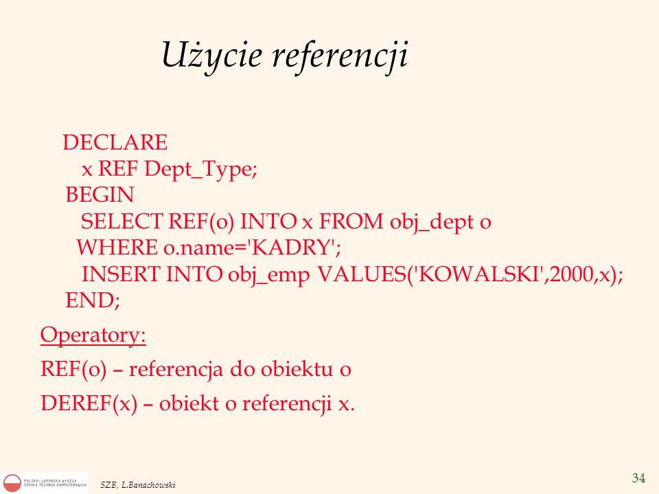 Użycie referencji