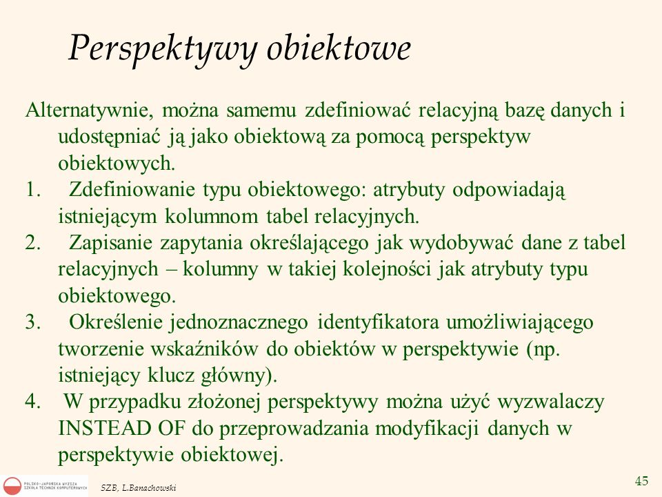 Perspektywy obiektowe