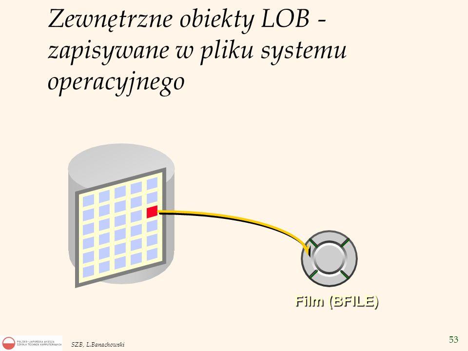 Zewnętrzne obiekty LOB - zapisywane w pliku systemu operacyjnego