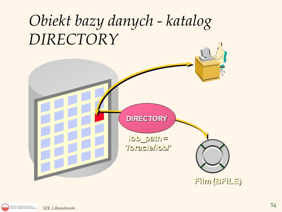 Obiekt bazy danych - katalog DIRECTORY