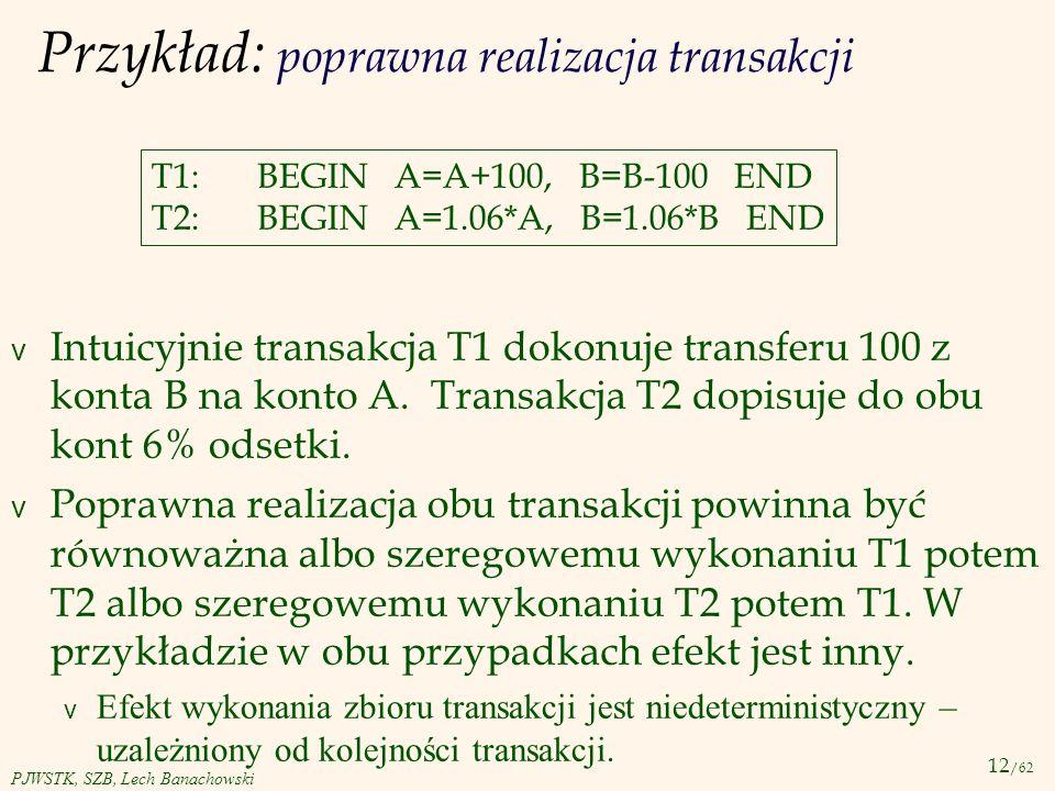 Przykład: poprawna realizacja transakcji