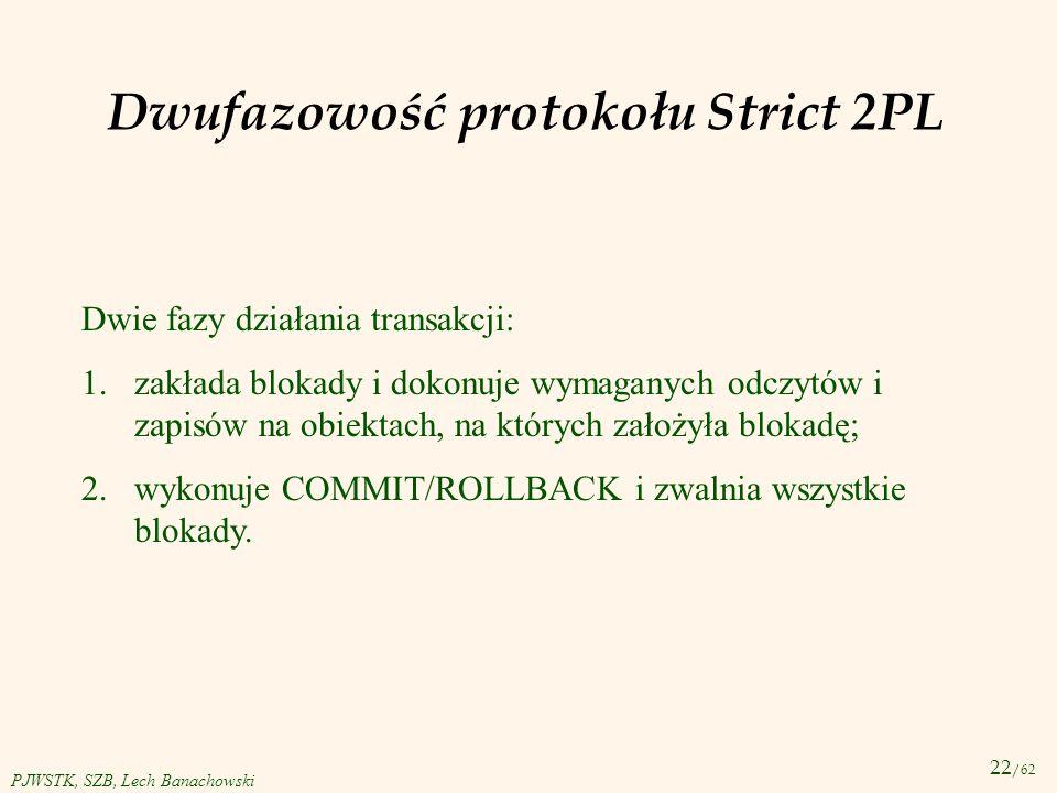Dwufazowość protokołu Strict 2PL