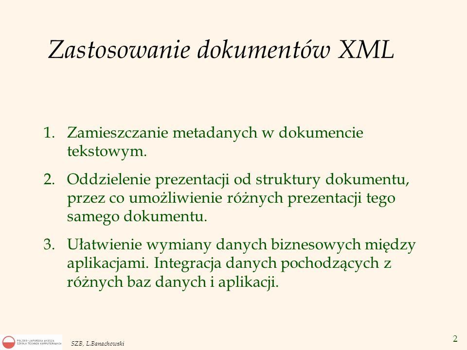 Zastosowanie dokumentów XML