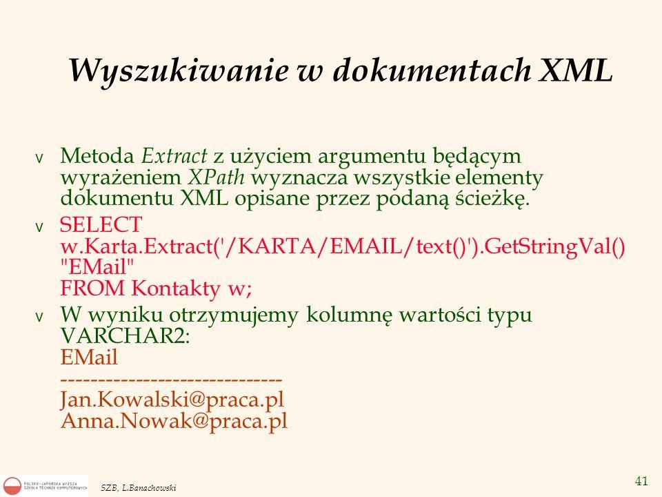 Wyszukiwanie w dokumentach XML