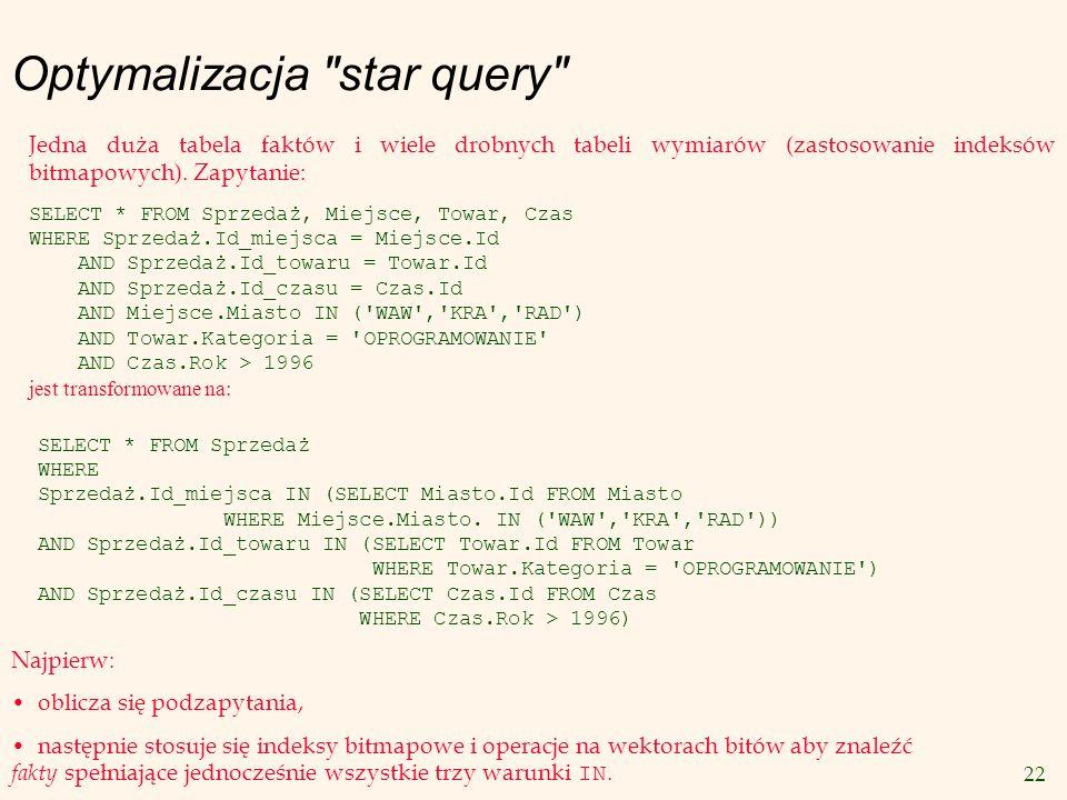 Optymalizacja star query