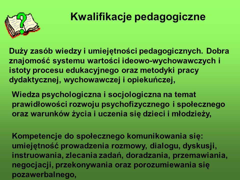 Kwalifikacje pedagogiczne