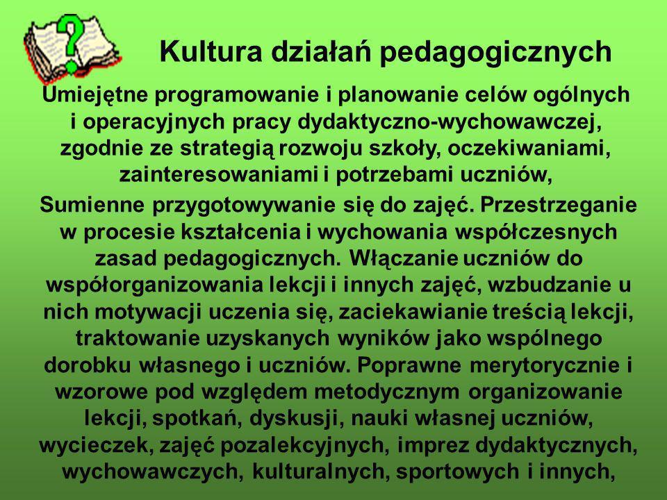Kultura działań pedagogicznych