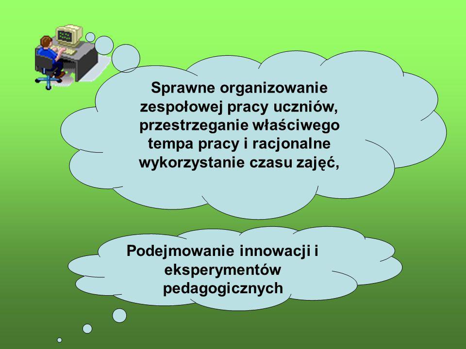 Podejmowanie innowacji i eksperymentów pedagogicznych