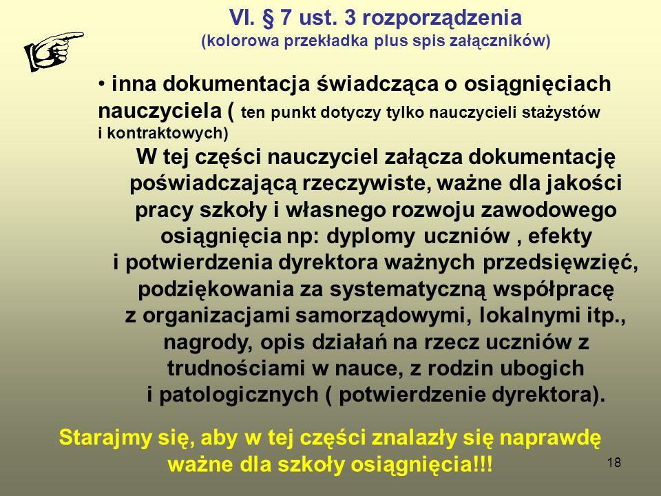 VI. § 7 ust. 3 rozporządzenia