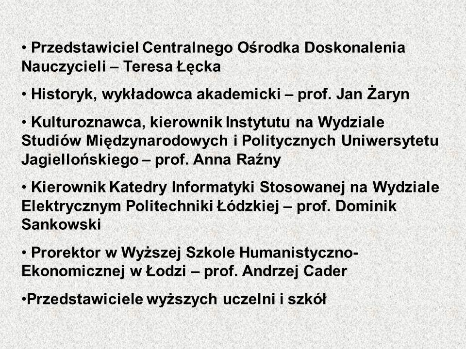 Przedstawiciel Centralnego Ośrodka Doskonalenia Nauczycieli – Teresa Łęcka