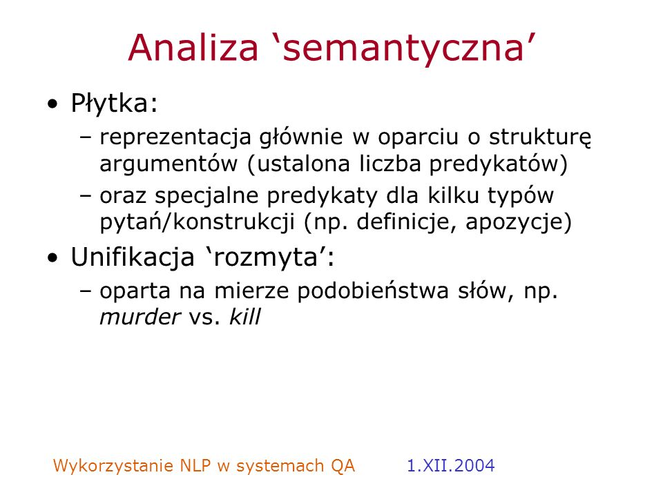 Analiza 'semantyczna'