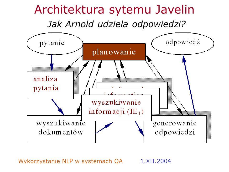 Architektura sytemu Javelin Jak Arnold udziela odpowiedzi