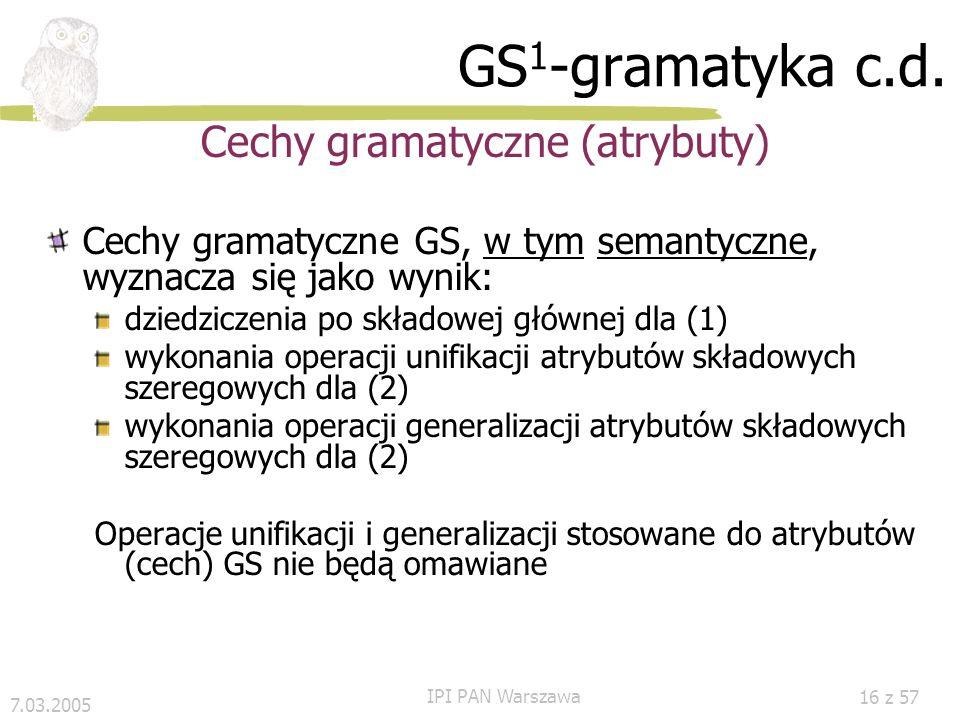 Cechy gramatyczne (atrybuty)
