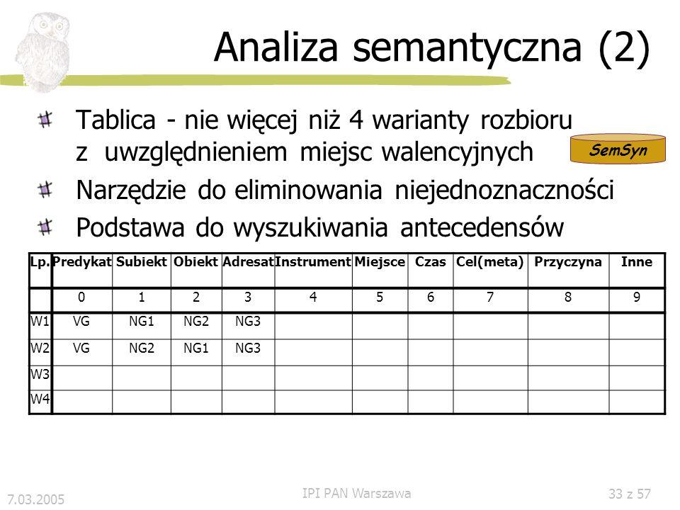 Analiza semantyczna (2)