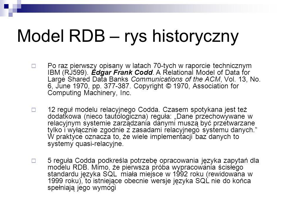 Model RDB – rys historyczny