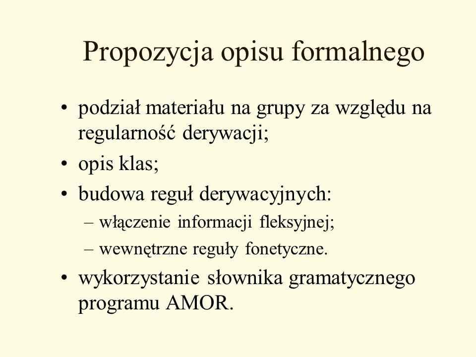 Propozycja opisu formalnego