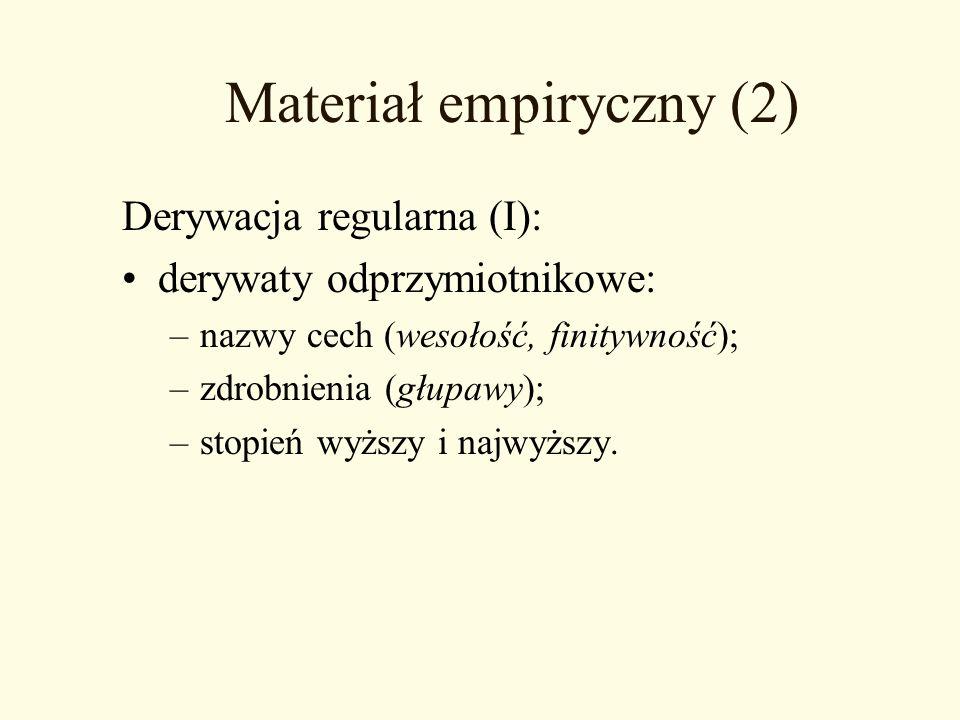 Materiał empiryczny (2)