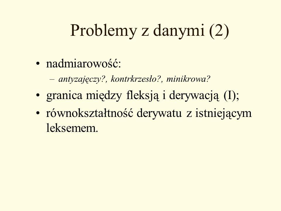 Problemy z danymi (2) nadmiarowość: