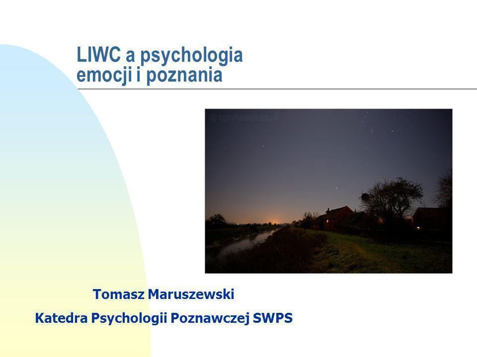 LIWC a psychologia emocji i poznania