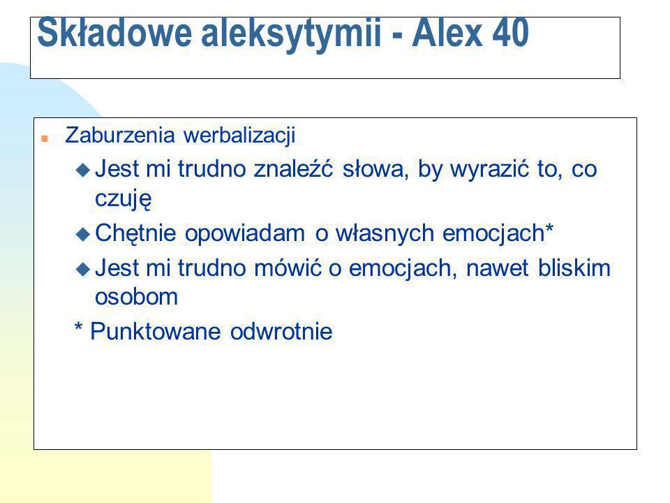 Składowe aleksytymii - Alex 40