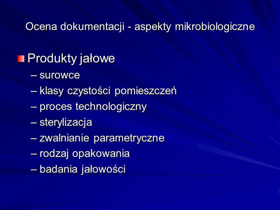 Ocena dokumentacji - aspekty mikrobiologiczne