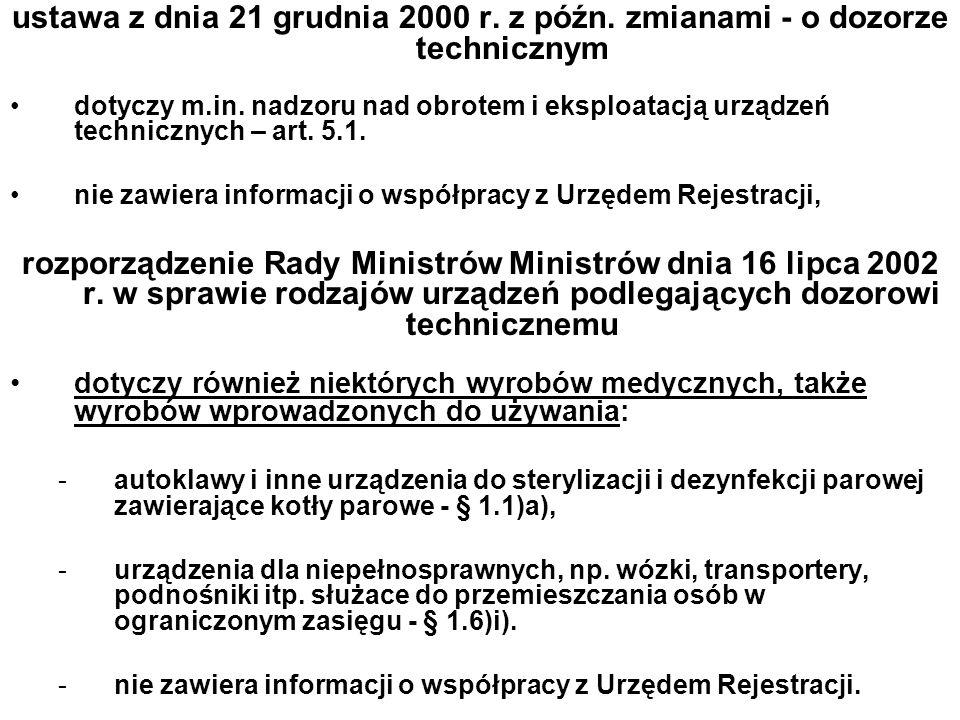 ustawa z dnia 21 grudnia 2000 r. z późn