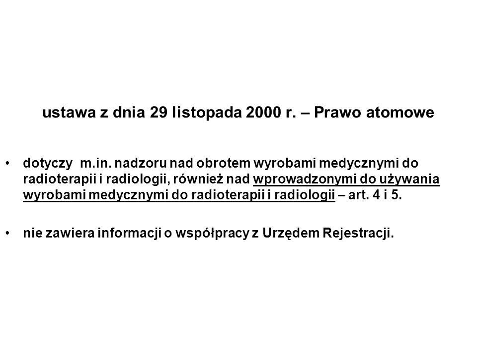 ustawa z dnia 29 listopada 2000 r. – Prawo atomowe