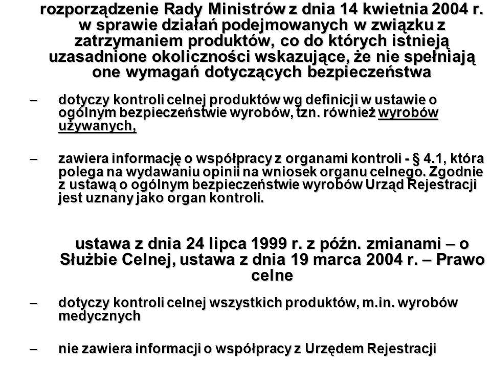 rozporządzenie Rady Ministrów z dnia 14 kwietnia 2004 r
