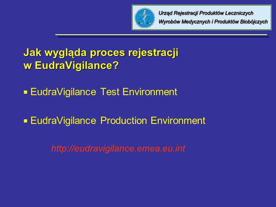Jak wygląda proces rejestracji w EudraVigilance