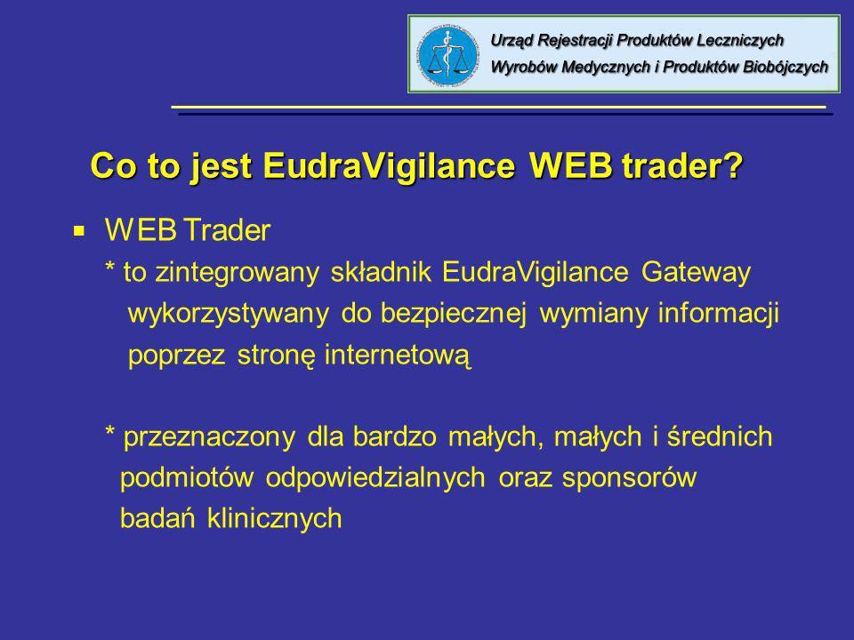 Co to jest EudraVigilance WEB trader