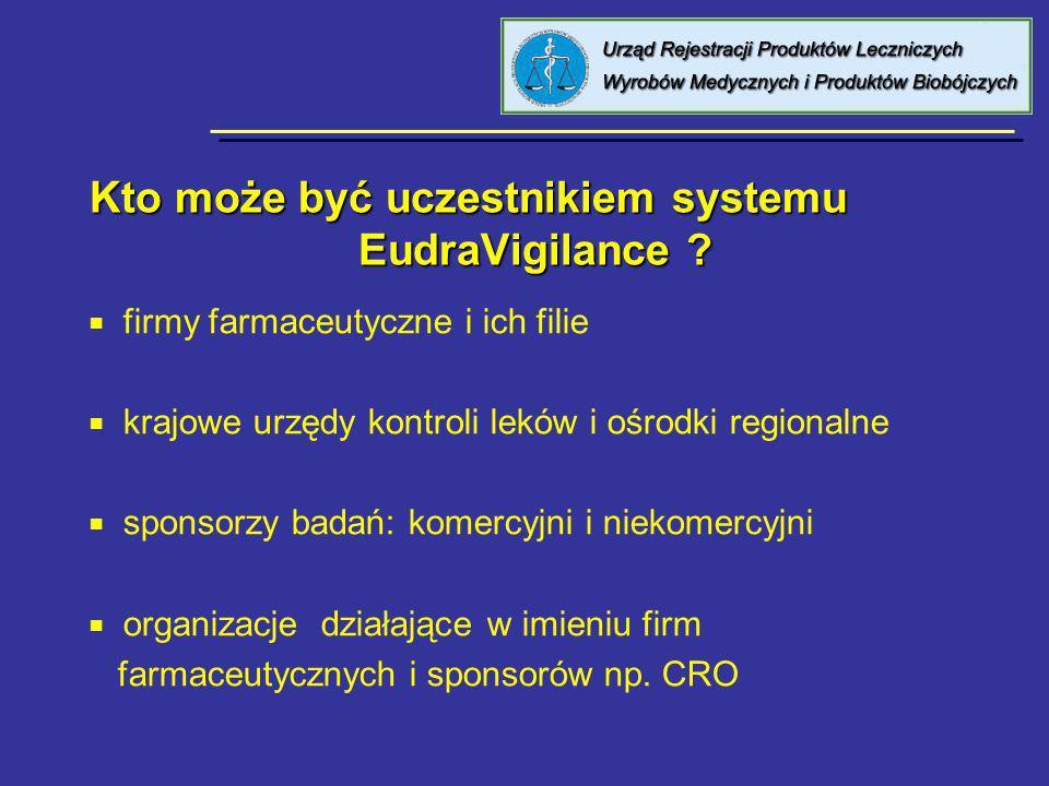 Kto może być uczestnikiem systemu EudraVigilance
