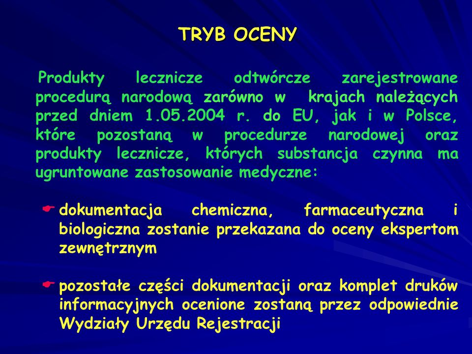 TRYB OCENY