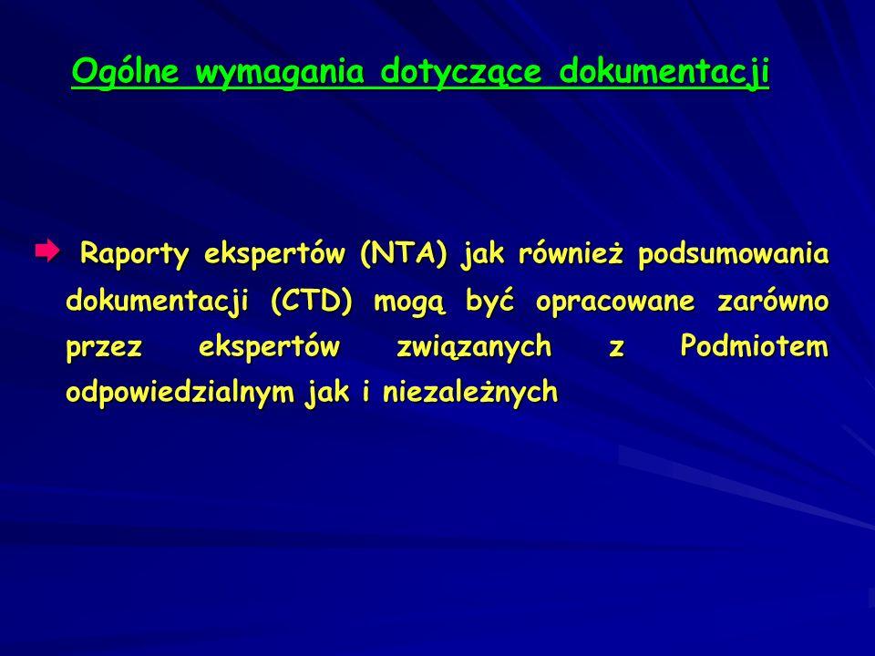 Ogólne wymagania dotyczące dokumentacji
