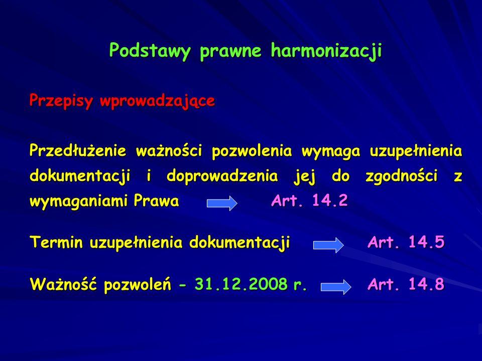 Podstawy prawne harmonizacji