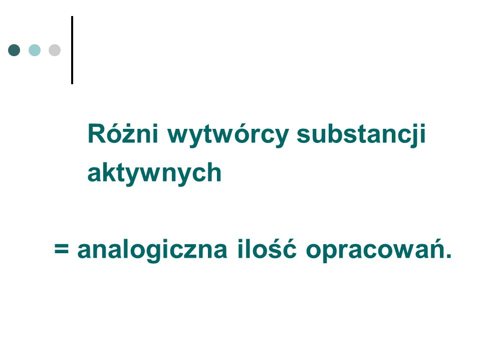 Różni wytwórcy substancji