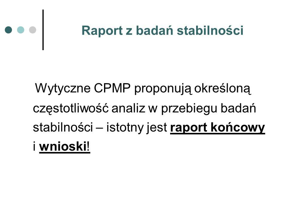 Raport z badań stabilności