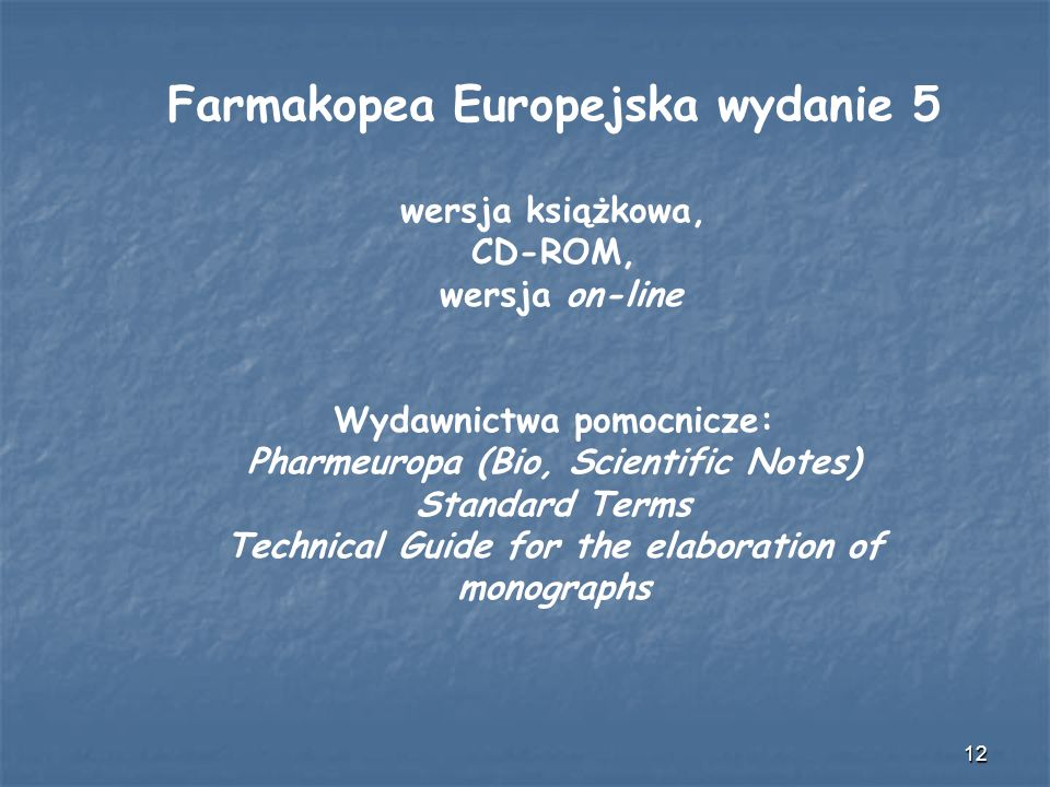 Farmakopea Europejska wydanie 5