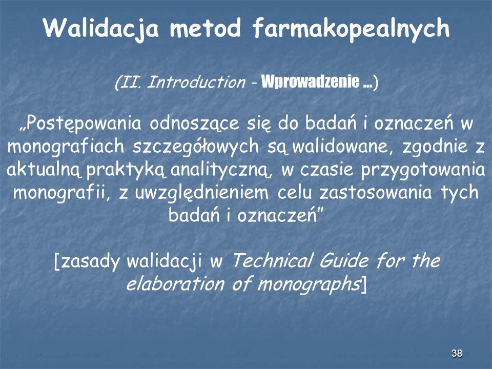 Walidacja metod farmakopealnych