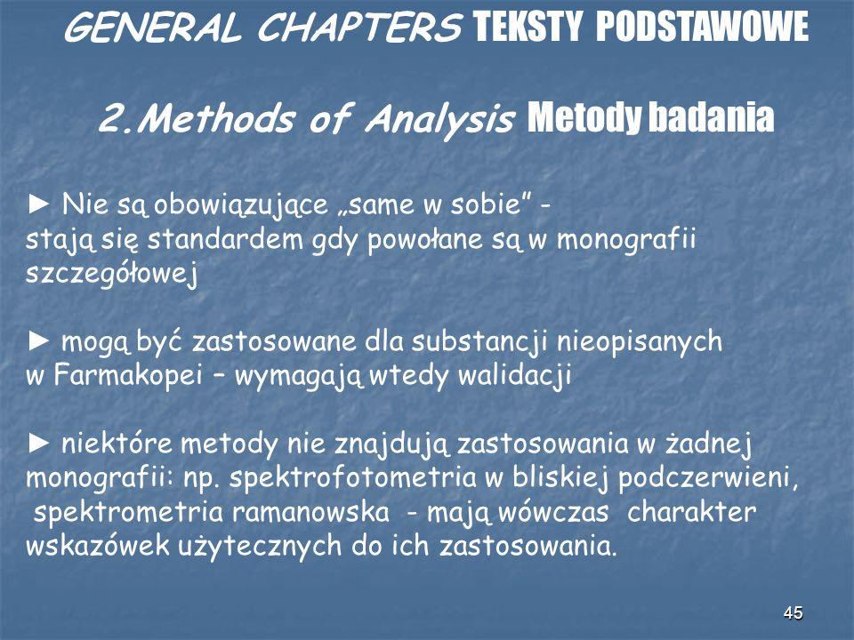 GENERAL CHAPTERS TEKSTY PODSTAWOWE