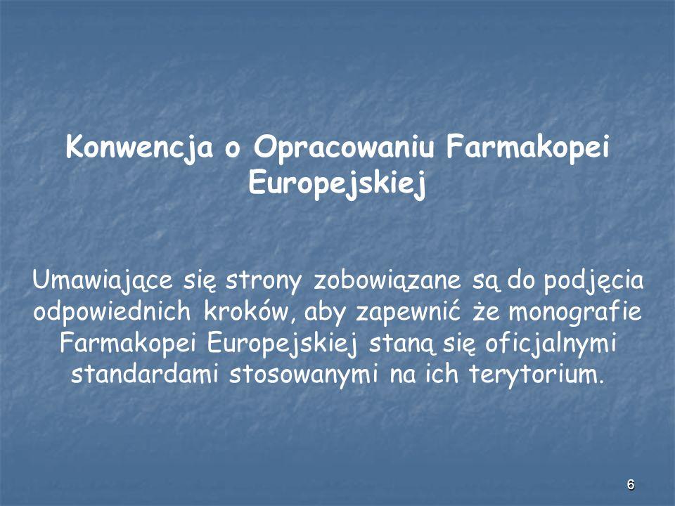 Konwencja o Opracowaniu Farmakopei Europejskiej