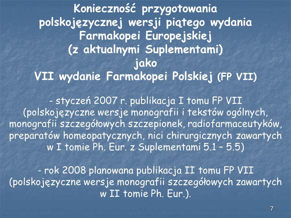 Konieczność przygotowania polskojęzycznej wersji piątego wydania