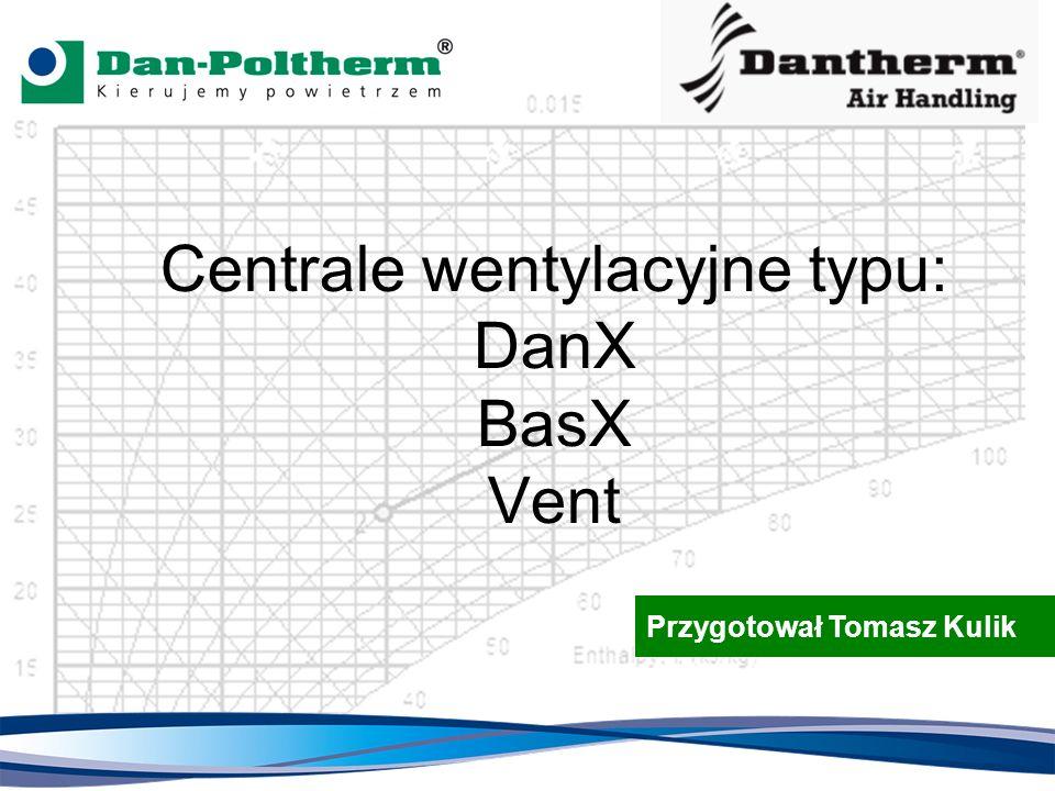 Centrale wentylacyjne typu: DanX BasX Vent