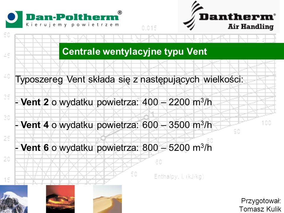 Centrale wentylacyjne typu Vent